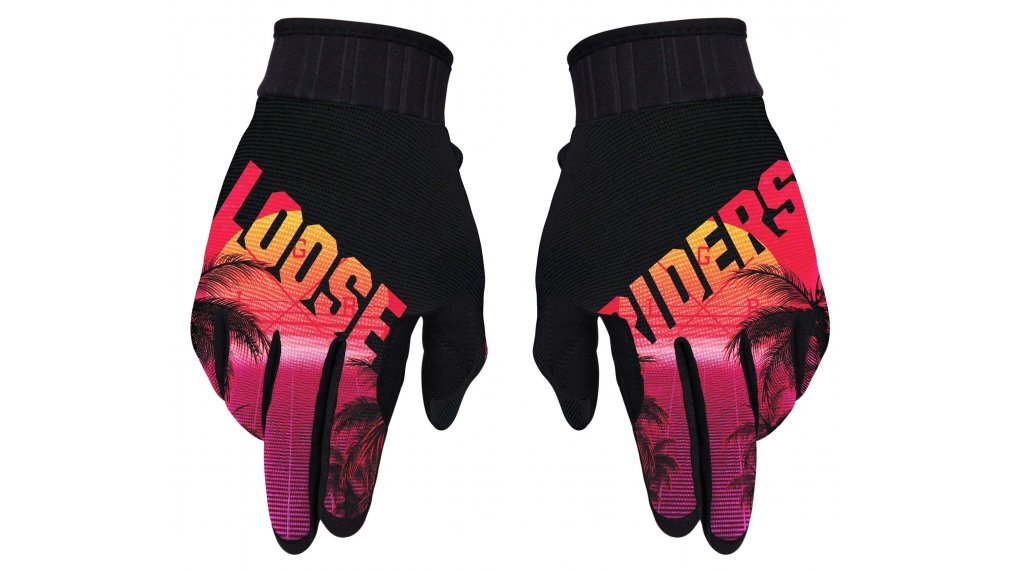 Loose Riders Synth Handschuhe lang Gr. S red/black