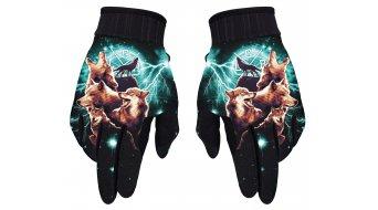 Loose Riders Wolfpack Handschuhe lang Gr. S black/turquise