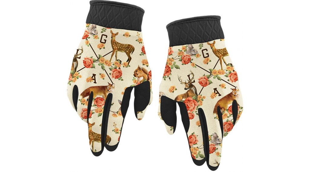 Loose Riders Forest Animals Winter MTB-Handschuhe Gr. S beige/brown