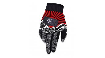 Loose Riders Rising Sun gloves long black/red