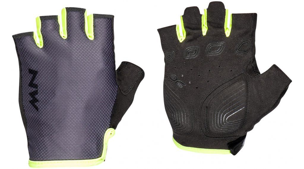 Northwave Active 手套 短 男士 型号 L grey/yellow fluo