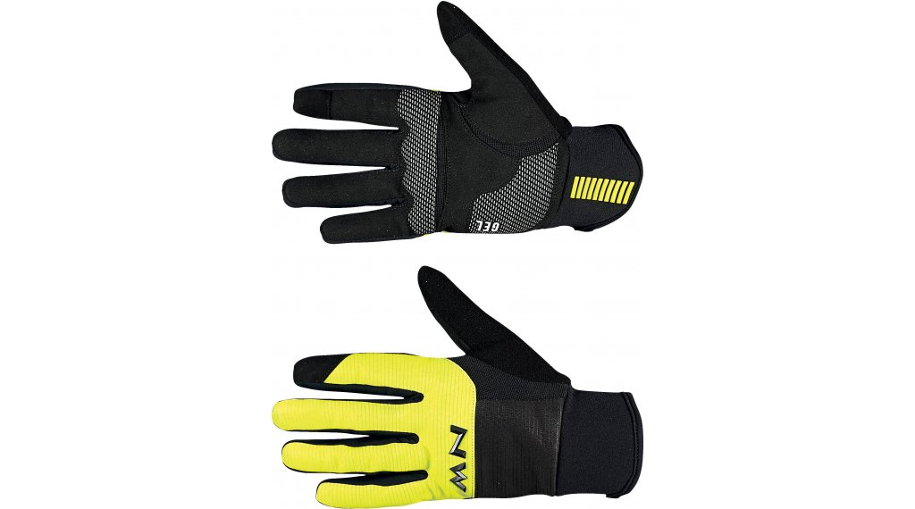 Northwave Power 3 Full Gel Handschuhe lang Gr. L black/yellow fluo