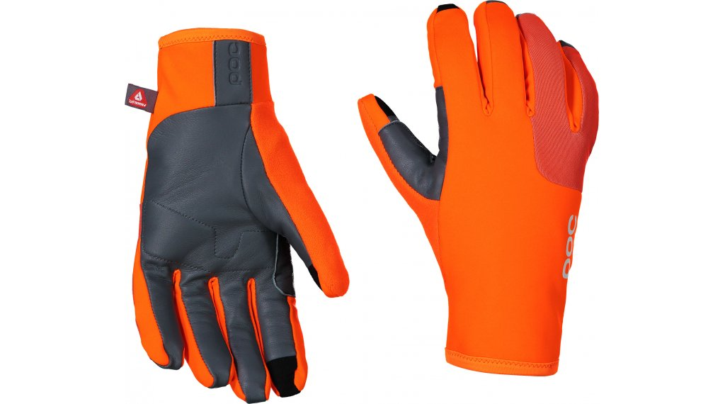 POC Thermal Rennrad-Handschuhe lang Gr. XS zink orange