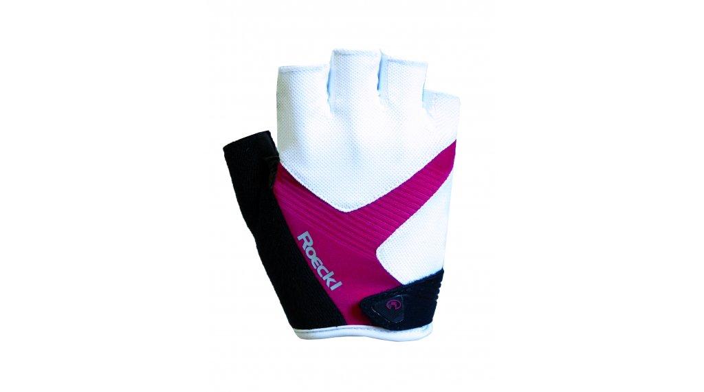 Roeckl Bregenz Performance Handschuhe kurz Herren Gr. 7.5 weiß/himbeere
