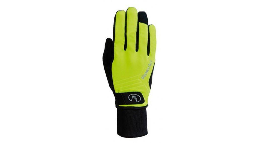 Roeckl Raab Top Funktion Wind Handschuhe Herren lang Gr. 6.0 neon yellow