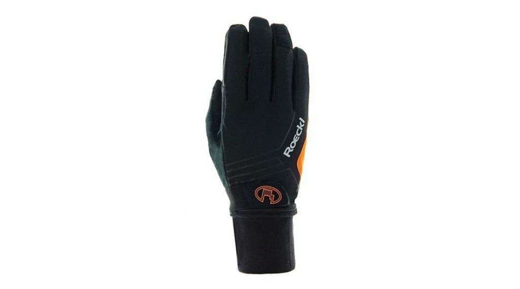 Roeckl Raab Top Funktion Wind Handschuhe Herren lang Gr. 7.0 black/orange