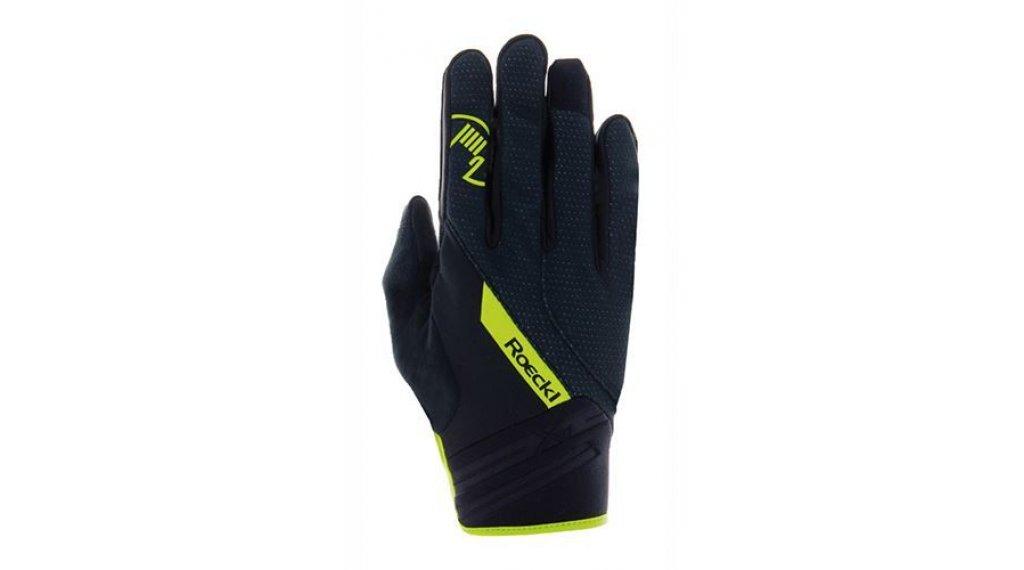 Roeckl Renon Top Function Wind Handschuhe lang Herren Gr. 6.5 schwarz/gelb