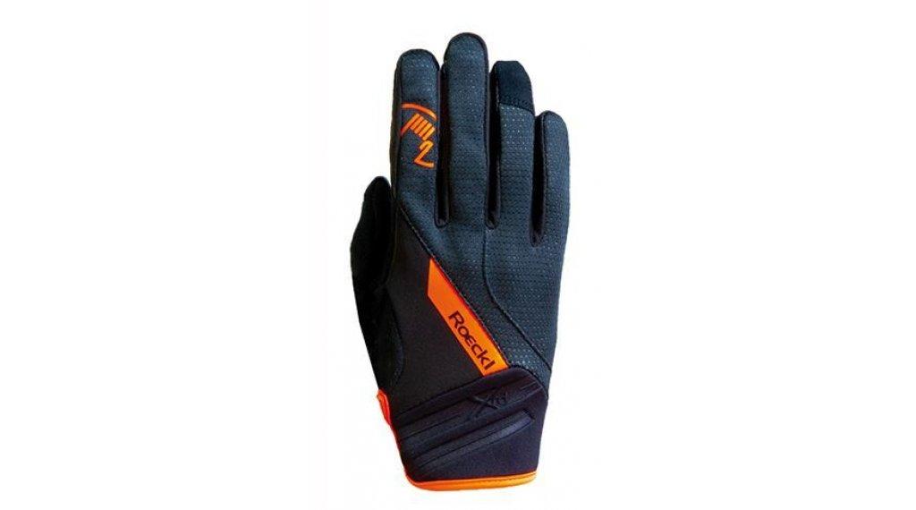 Roeckl Renon Top Function Wind Handschuhe lang Herren Gr. 7.0 schwarz/orange