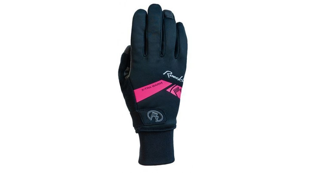 Roeckl Villach extra warm Handschuhe Herren lang Gr. 6.0 black/pink