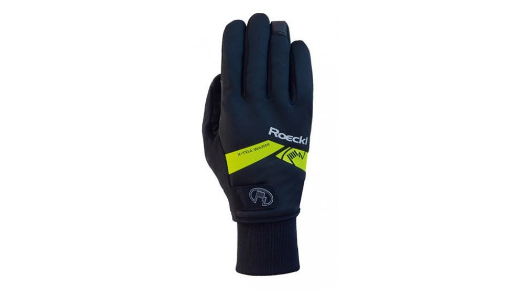 Roeckl Villach extra warm Handschuhe lang Herren Gr. 6.5 black/yellow