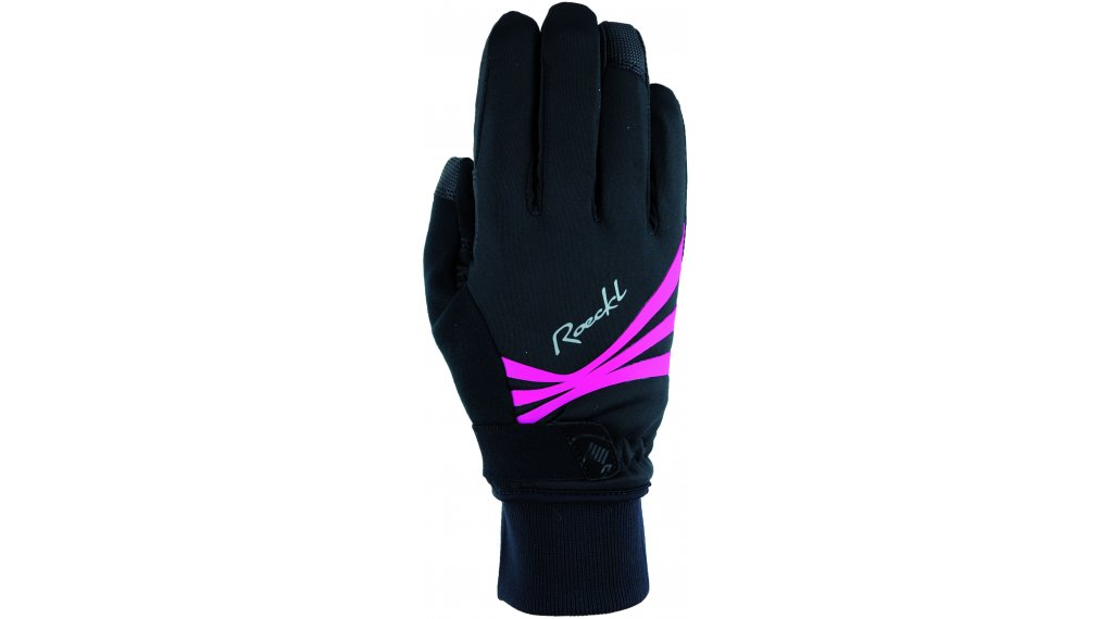 Roeckl Wilora Handschuhe lang Damen Gr. 6.0 black/pink