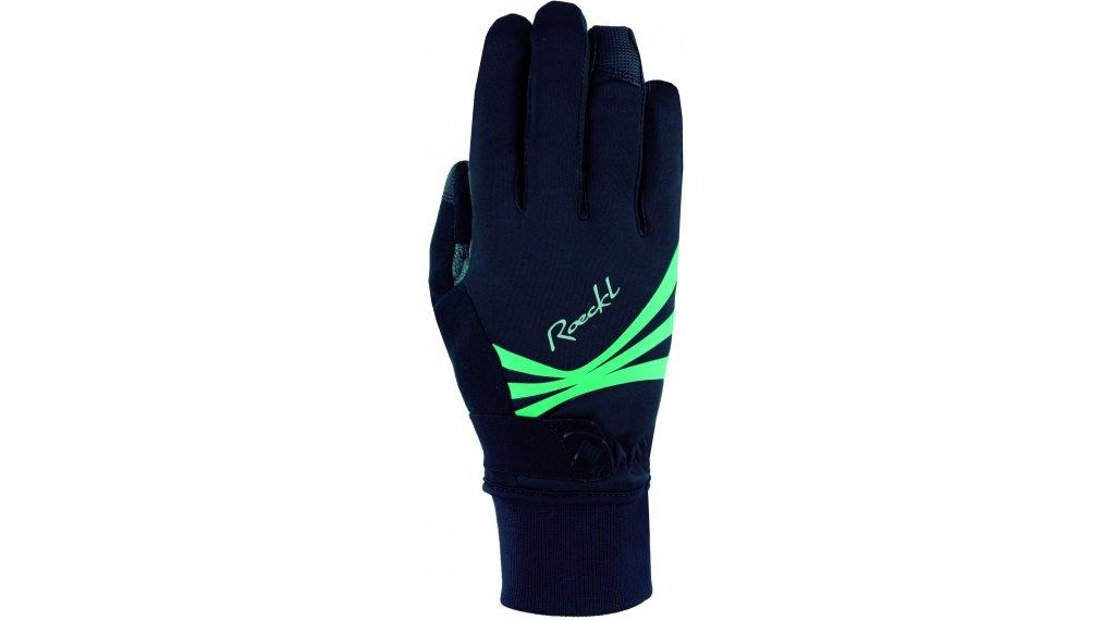 Roeckl Wilora Handschuhe lang Damen Gr. 6.0 black/turquise