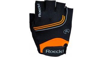 Roeckl Belluno Performance Handschuhe kurz Gr. 7.5 schwarz/orange - Ausstellungsstück