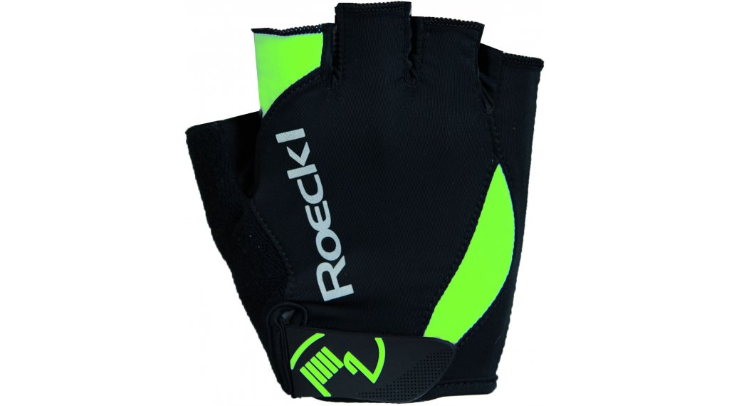 Roeckl Baku Performance Handschuhe kurz Gr. 7,5 schwarz/grün
