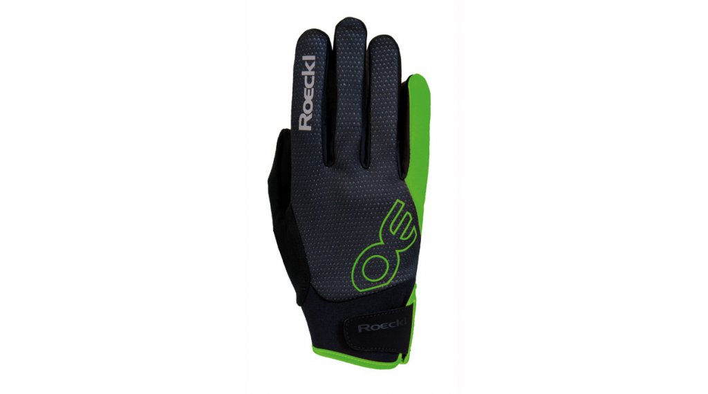 Roeckl Riga Top funkce rukavice velikost 6.5 černá/zelená/orange