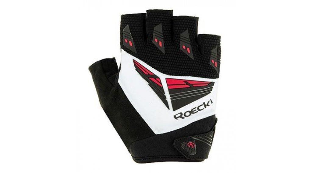 Roeckl Iron Top Function guanti dita-corte mis. 7,5 nero/bianco