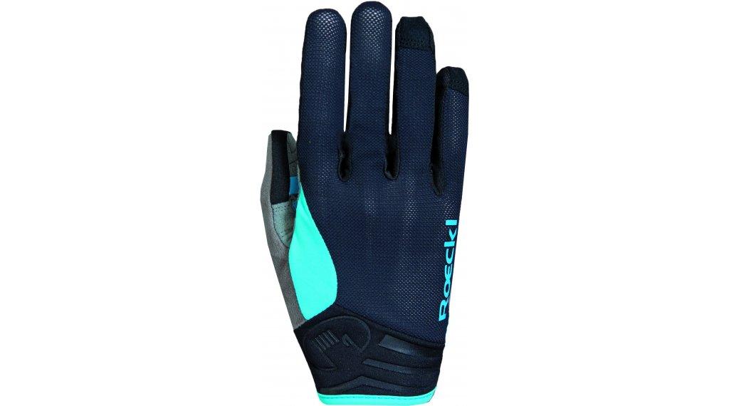 Roeckl Mileo Handschuhe lang Herren Gr. 6.0 schwarz/türkis