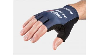 Santini Trek-Segafredo Team gloves short dark blue