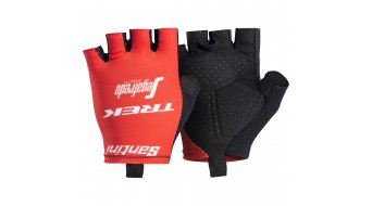 Santini Trek-Segafredo Team gloves short red 2018