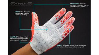 Supacaz SupaG Twisted Handschuhe lang Gr. XL neon blue/black