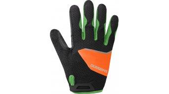 Shimano Explorer Handschuhe lang Herren-Handschuhe Gr. S schwarz/orange