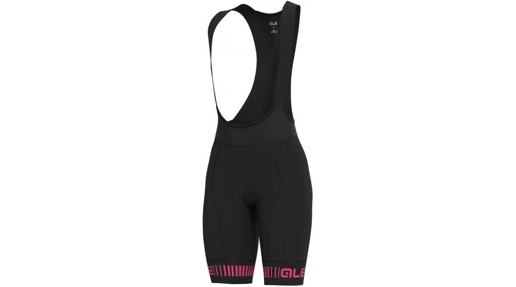 Alé Strada Graphics PRR Bib Shorts 裤装 短 女士 (W4H-臀部垫层) 型号 XS black/fluo 粉色