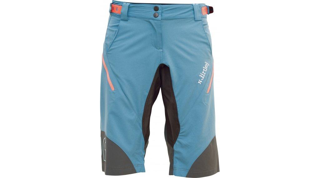 Dirtlej Trailscout Half & Half Shorts Hose kurz Damen Gr. M blue/grey/apricot