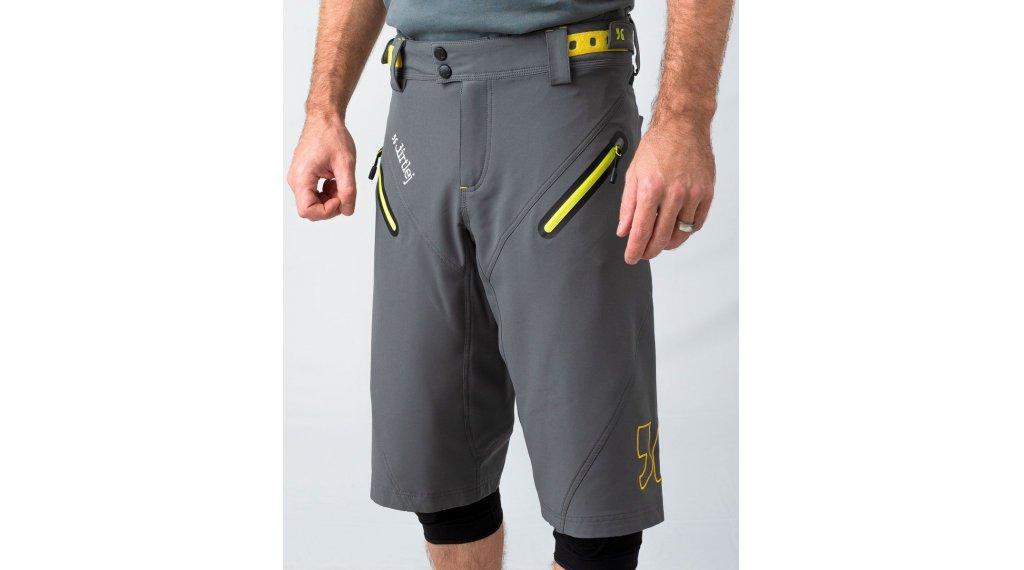 Dirtlej Trailscout verano pantalón corto(-a) Caballeros tamaño S gris/lime