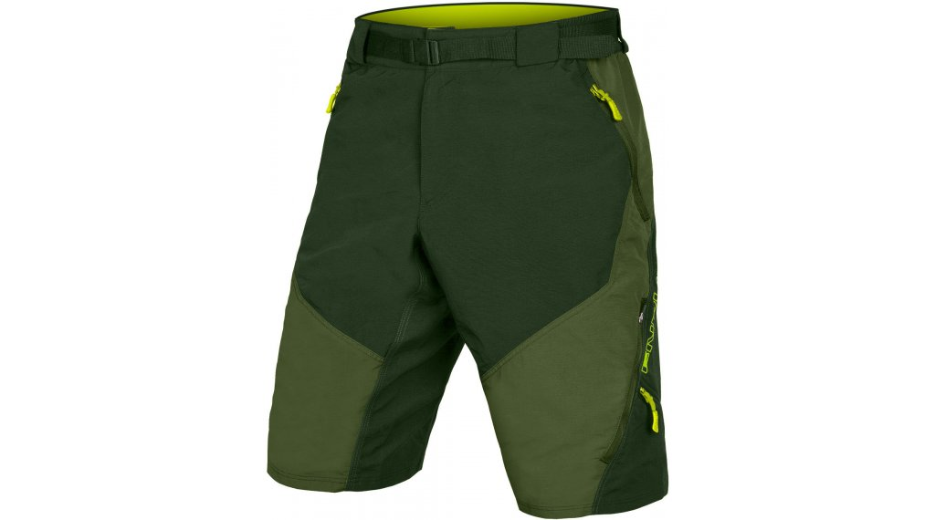 Endura Hummvee II pantalón corto(-a) Caballeros (200-Series-acolchado) tamaño S olive verde