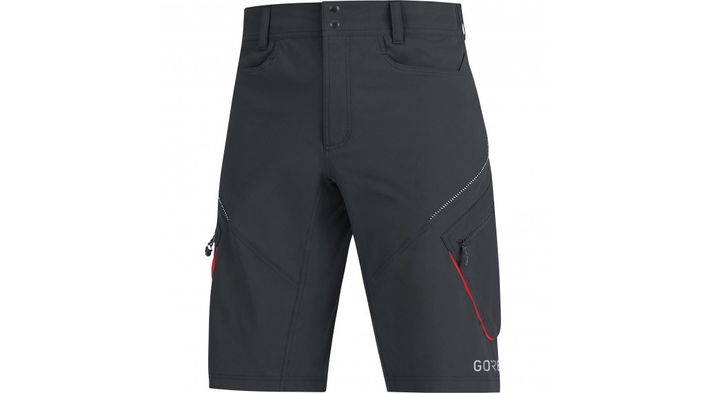 Gore C3 Trail bike shorts broek kort heren (zonder zeem) maat S black/red