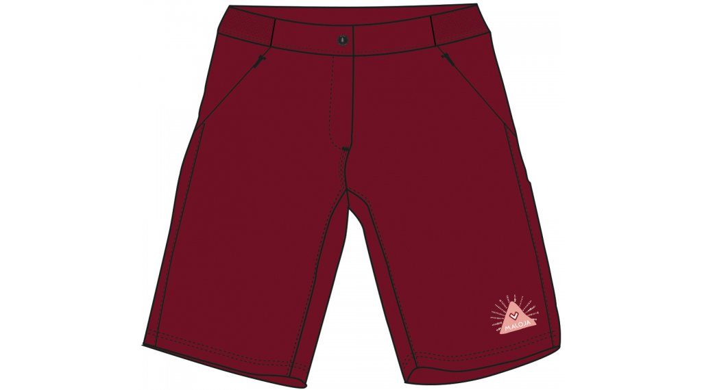 Maloja AnemonaM. Shorts Hose kurz Damen Gr. L red monk