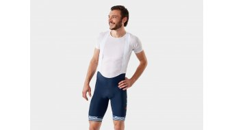Santini Trek-Segafredo Team bib short short men dark blue