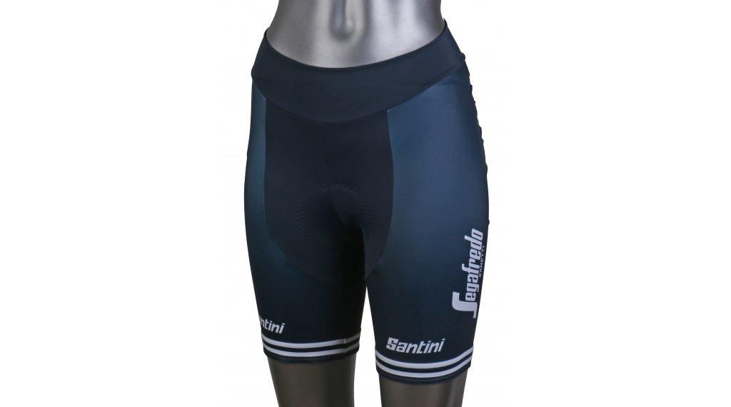 Santini Trek-Segafredo Replica Shorts Hose kurz Damen (ProGrace-Sitzpolster) Gr. XL dark blue/white