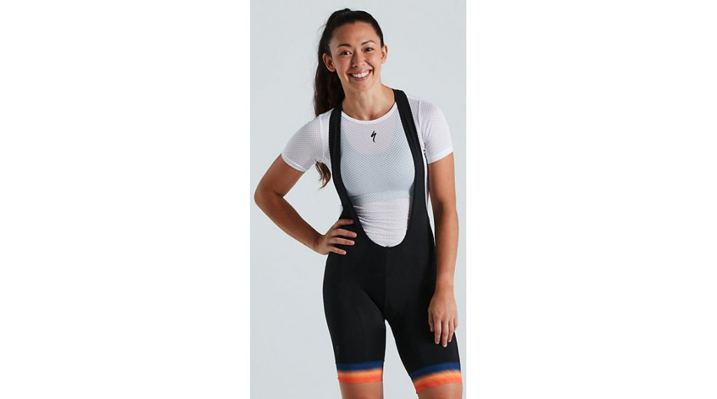 Specialized RBX Comp 背带紧身裤 短 女士 (BG Contour 3D-臀部垫层) 型号 M 橙色 sunset/dark blue