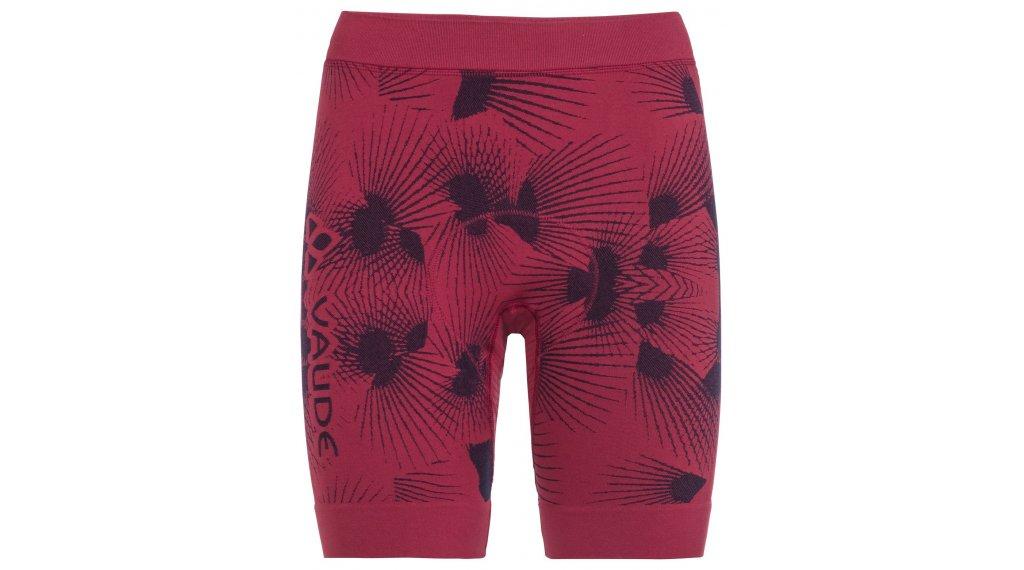 VAUDE LesSeam Shorts Hose kurz Damen (inkl. SQ-Lab-Sitzpolster) Gr. 36/38 crimson red