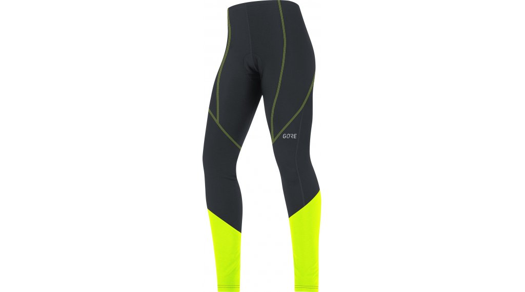GORE Wear C3 Thermo Tight Hose lang Damen (Active-Sitzpolster) Gr. XS (34) black/neon yellow