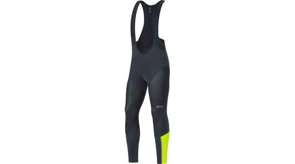 GORE Wear C7 Partial GORE® WINDSTOPPER® Pro Bib Tight Hose lang Herren (Expert Road-Sitzpolster) Gr. S black/neon yellow