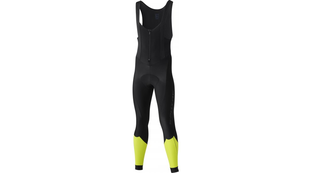 Shimano S-Phyre Bib Tights 裤装 长 男士 (S-Phyre-臀部垫层) 型号 S black/yellow