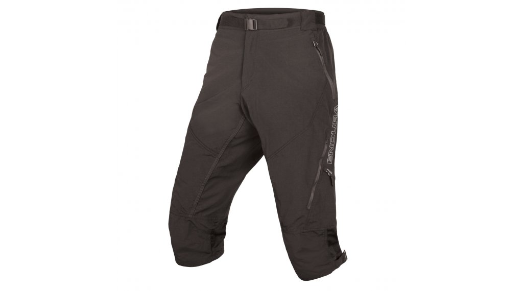 Endura Hummvee II MTB-kalhoty 3/4-dlouhý pánské (200-Series-cyklistická vložka) velikost S černá