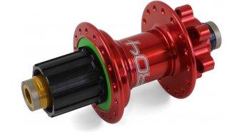Hope Pro 4 Disc-buje rueda trasera 24 agujeros 10x135mm Hope-piñon libre rojo