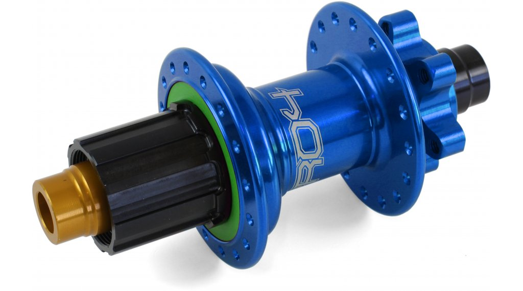Hope Pro 4 Disc-buje rueda trasera 24 agujeros 12x142mm Hope-piñon libre azul