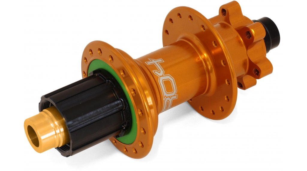 Hope Pro 4 Disc-buje rueda trasera 32 agujeros 12x157mm Hope-piñon libre naranja