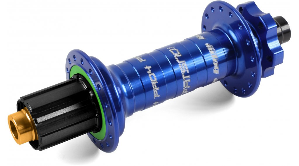 Hope Pro 4 Fatsno Fatbike Disc-buje rueda trasera 32 agujeros 12x197mm Hope-piñon libre azul