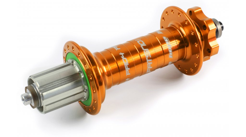 Hope Pro 4 Fatsno Fatbike Disc-buje rueda trasera 32 agujeros QRx190mm Shimano/Sram-piñon libre naranja