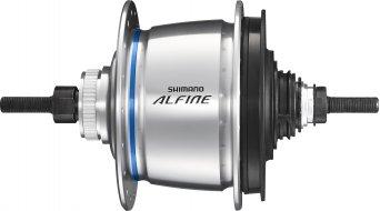 Shimano Alfine Di2 SG-S505 Disc buje de engranaje 8 marchas 32 agujeros Centerlock color plata