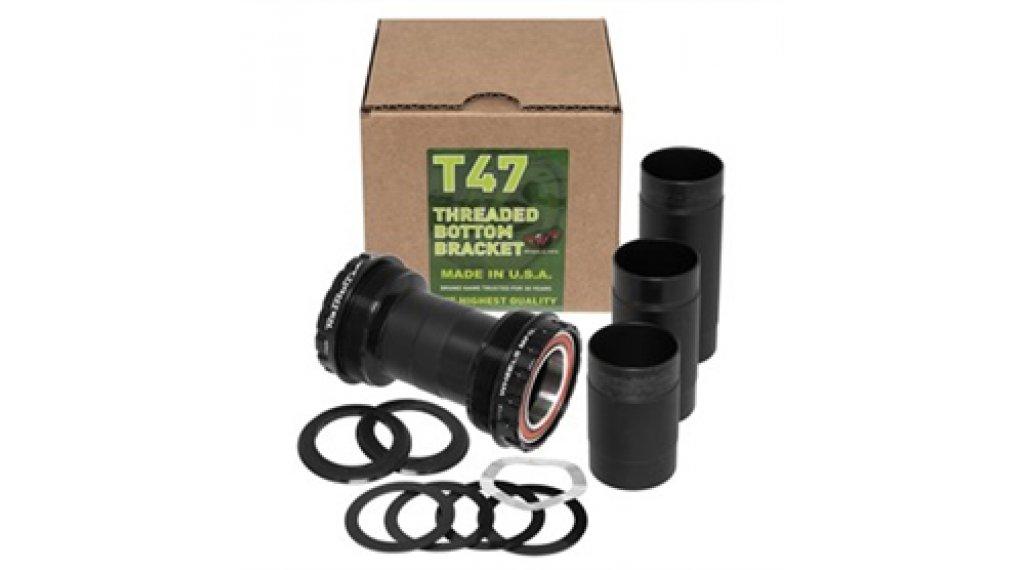 Wheels Manufacturing T47 Outboard Angular Innenlager für SRAM 22/24mm black