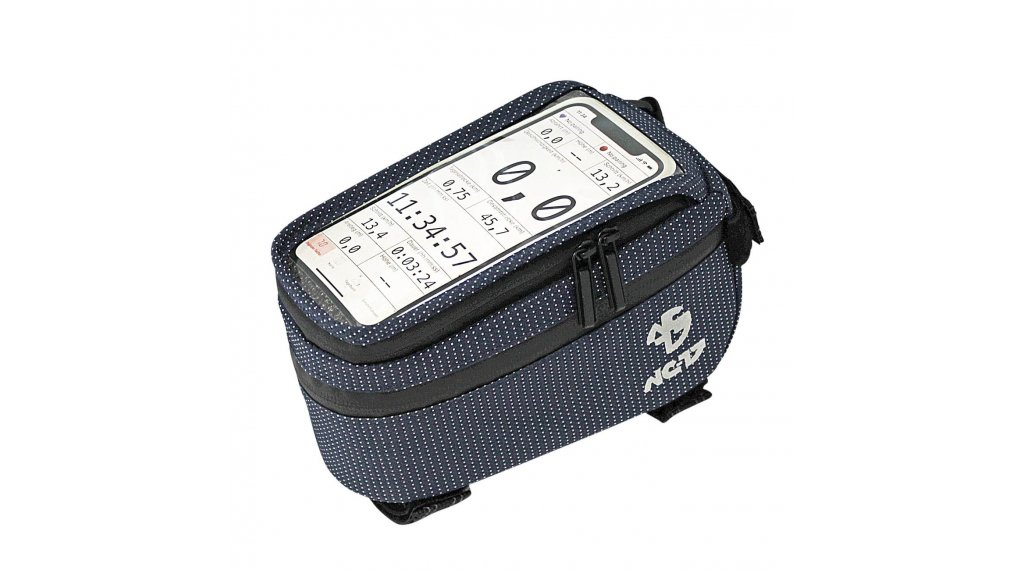 NC-17 Connect Smartphone Tasche für Oberrohr blau dot