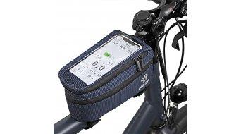NC-17 Connect Smartphone Tasche für Oberrohr XL blau dot