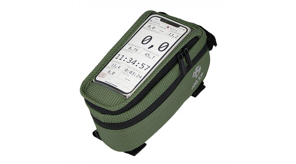 NC-17 Connect Smartphone Tasche für Oberrohr XL grün dot