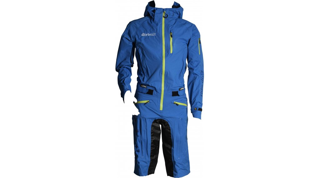 Dirtlej DirtSuit Classic Edition rain an cable size XS blue/lime
